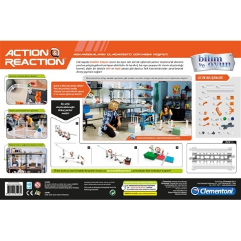Clementoni Action Reaction Starter Set Modüler Top Yolu Oyunu 64953