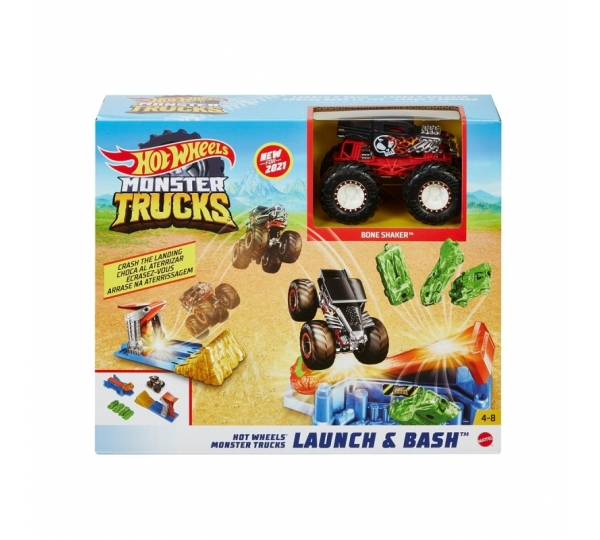 Hot Wheels Monster Trucks Fırlat ve Çarpış Oyun Seti GVK08